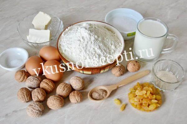 Пасхальный кулич с изюмом: ингредиенты