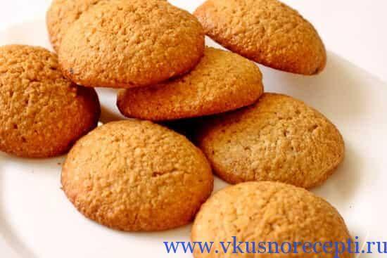 Овсяное печенье с изюмом и орехами по госту