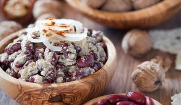 Рецепт лобио из красной фасоли с грецким орехом