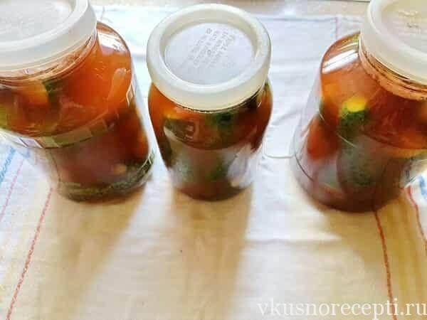 Маринованные огурцы с кетчупом чили от Торчин на зиму
