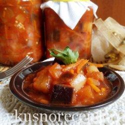 Салат из баклажанов и сладкого перца на зиму
