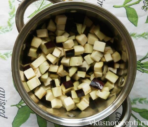 Рецепт салата из баклажанов на зиму