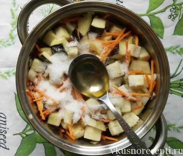 Рецепт салата из баклажанов и сладких перцев