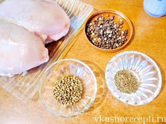 Блюдо из куриной голениы