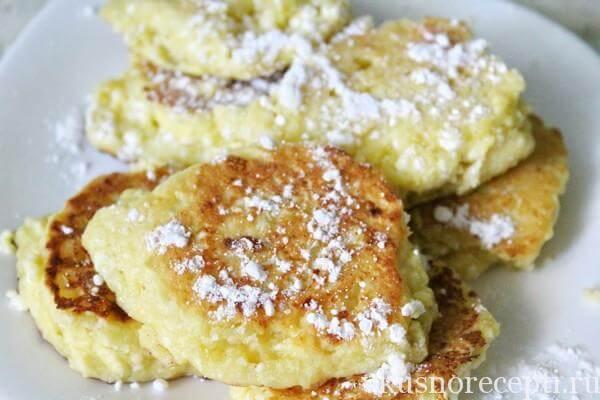 Сырники из творога на сковороде с кукурузной мукой рецепт