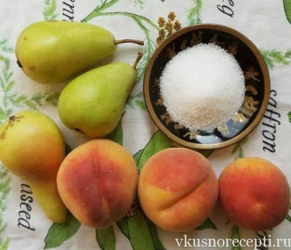 Варенье из персиков с грушами на зиму