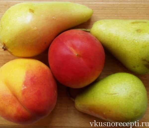 Грушевое варенье с персиками
