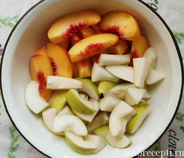 Варенье из персиков и груши