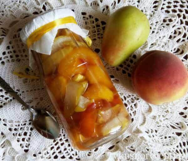 Варенье из груши и персиков на зиму