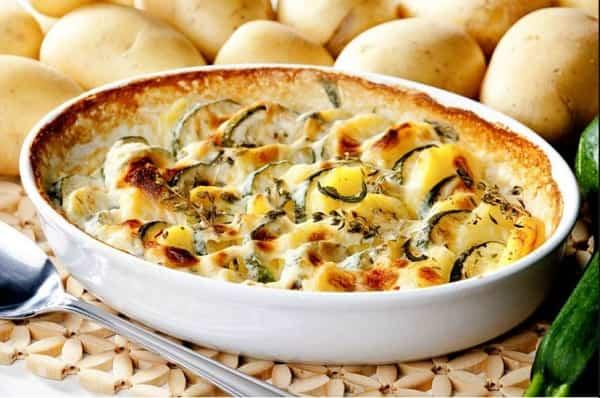 Запеканка из кабачков с сыром в духовке рецепты с фото