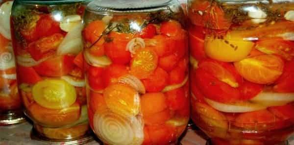 Маринованные помидоры на зиму половинками