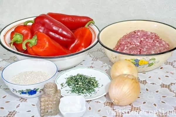 Фаршированный перец с рисом и мясом