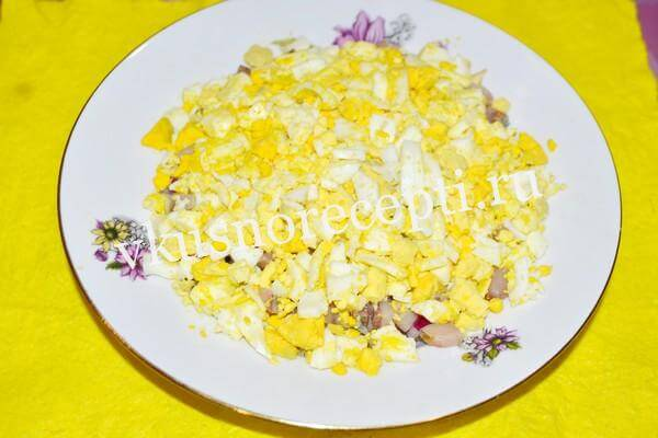 Селёдка под шубой рецепт классический с яйцом: слой яйца