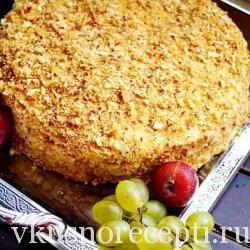 Домашний классический торт Наполеон