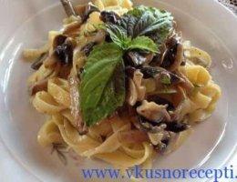 рецепт пасты с грибами