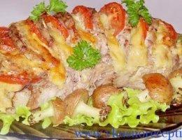 рецепт праздничная свинина