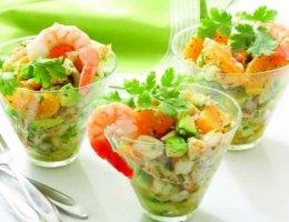 Праздничные салаты с креветками