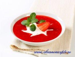 суп с клубнико