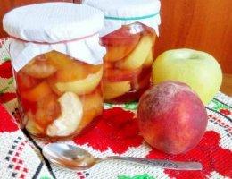 Варенье из персиков с яблоками на зиму
