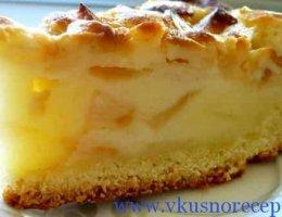 заливной пирог с яблокми